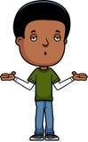Teen Boy Shrug. A cartoon illustration of a teenage boy shrugging Royalty Free Stock Photos