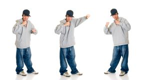 Teen boy singer Royalty Free Stock Photography