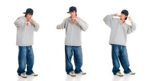 Teen boy singer Royalty Free Stock Images