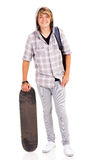 Teen boy skateboard Royalty Free Stock Photography