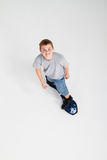 Teen boy skateboarding Royalty Free Stock Images