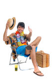 Teen boy, spring break Stock Photo