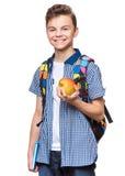 Teen boy student stock image