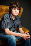 Teen boy in studio Royalty Free Stock Photos