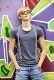 Teen boy with in sunglasses Royalty Free Stock Photo