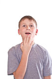 Teen boy surprised Royalty Free Stock Photography