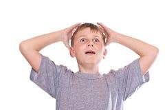 Teen boy surprised Royalty Free Stock Image