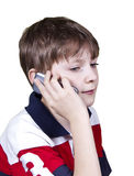 Teen boy talking on cell phone Stock Photography