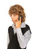 Teen boy talking by phone Royalty Free Stock Images