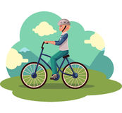 Teen boy, teenager riding urban bicycle, cycling in helmet Royalty Free Stock Photo