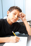 Teen Boy - Test Anxiety Stock Images