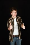 Teen boy thumbs up Stock Images