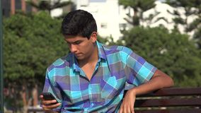 Teen Boy Using Cell Phone stock video footage