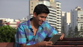 Teen Boy Using Tablet. Stock video in 4k or HD resolution stock footage