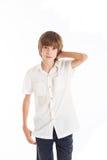 Portrait of teen boy. A teen boy wearing a white shirt Stock Images