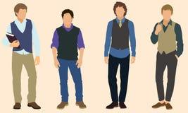 Teen boys. Four well-dressed teenage boys wearing vests Stock Image