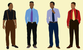 Teen Boys. Well-dressed Black teen boys Royalty Free Stock Photo