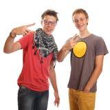 Teen boys. A couple of teen boys having fun Royalty Free Stock Image