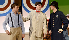 Teen Boys in a School Play royalty free stock photography