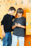 Teen Boys with Video Game Royalty Free Stock Photo