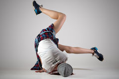 Teen breakdance girl dancing royalty free stock photography
