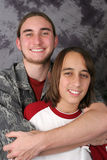Teen Brothers - Reluctance Stock Photo