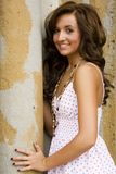 Teen brunette fashion model Royalty Free Stock Image