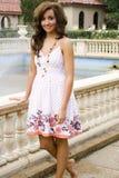 Teen brunette fashion model. A beautiful brunette teen female fashion model Stock Photography