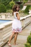 Teen brunette fashion model. A beautiful brunette teen female fashion model Stock Images