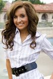 Teen brunette fashion model. A beautiful brunette teen female fashion model Royalty Free Stock Images
