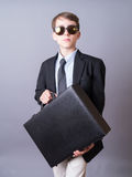 Teen Business Man with Briefcase Royalty Free Stock Photos