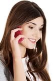 Teen calling to someone Royalty Free Stock Photography