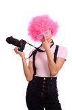 Teen with camera Royalty Free Stock Photo
