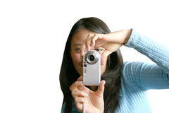 Teen with camera-phone Stock Photos