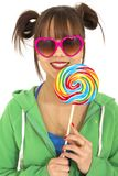 Teen and candies Royalty Free Stock Photo