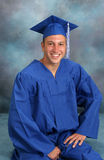 Teen in cap and gown Royalty Free Stock Image