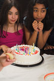 Teen celebrating birthday Stock Image