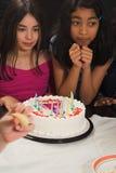 Teen celebrating birthday Stock Image