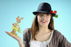 Teen celebrating easter Royalty Free Stock Photos