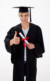 Teen Celebrating Graduation Stock Photo