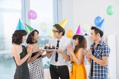 Teen celebration Stock Image
