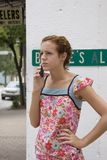Teen Cell phone two. Picture of a teen on a cell phone Royalty Free Stock Photos