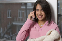 Teen on cellphone Stock Photo