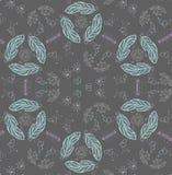 Teen chalk pattern on blackboard Royalty Free Stock Image
