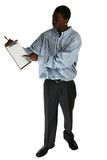 Teen with Clipboard Stock Photo