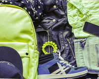 Teen clothing and accessories Royalty Free Stock Photography