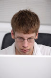 Teen on computer Royalty Free Stock Photos