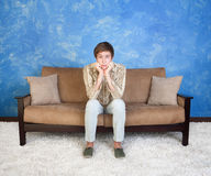Teen on couch Stock Photos