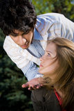 Teen couple date royalty free stock image