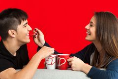 Teen couple having fun. Royalty Free Stock Photos